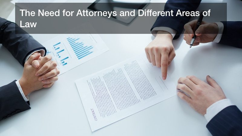 The Need for Attorneys and Different Areas of Law